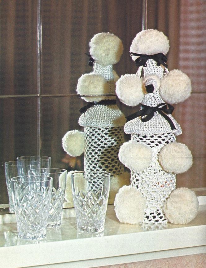 Crochet Poodle Bottle Cover