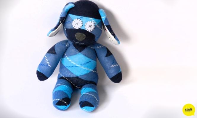 Sock Dog in Blue Argyle