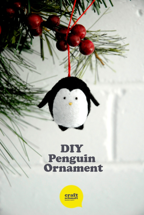 DIY Penguin Ornament - Free Tutorial