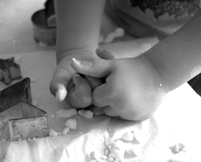Little hands working hard