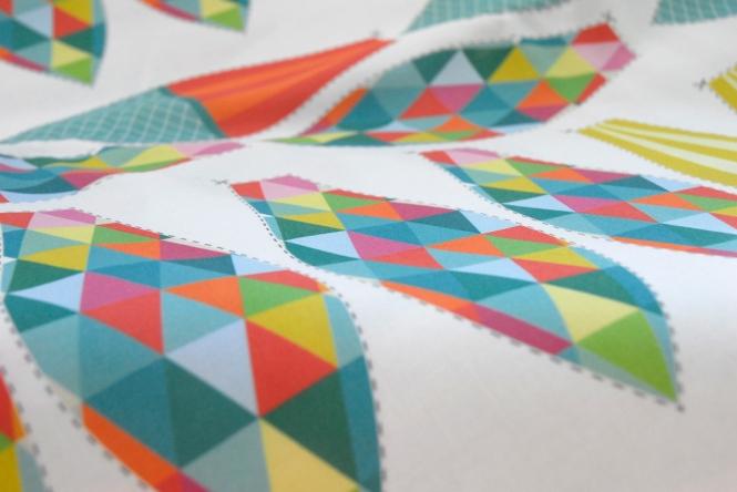 Hot Air Balloon Fabric Panel