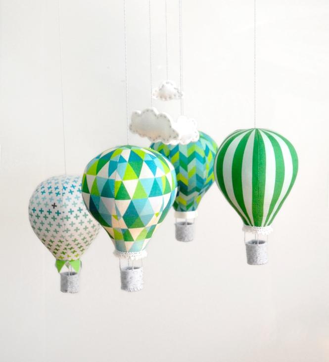 Emerald Hot Air Balloon mobile