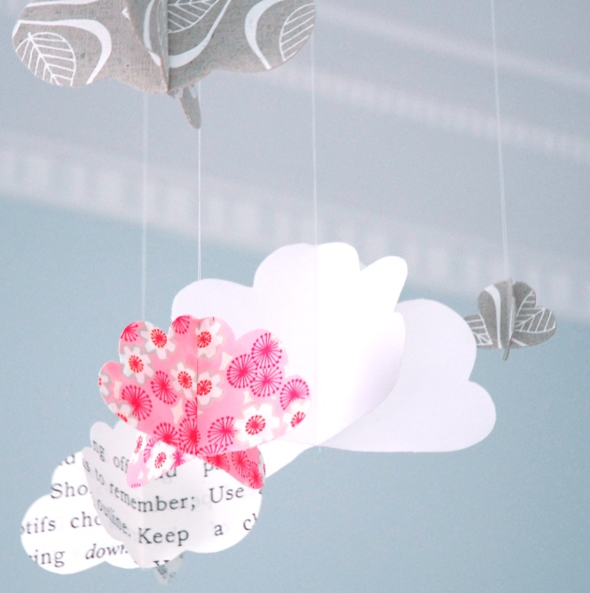 Fabric Cloud Hanging Craft
