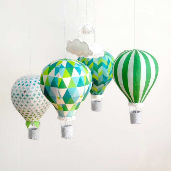 Hot Air Balloon Mobile Kit - Emerald