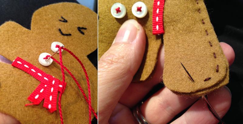Ninjabread man stitching