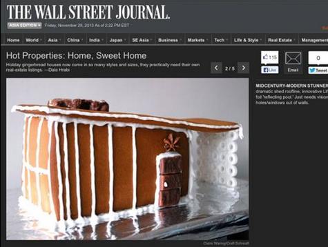 Wall street Journal gingerbread house feature