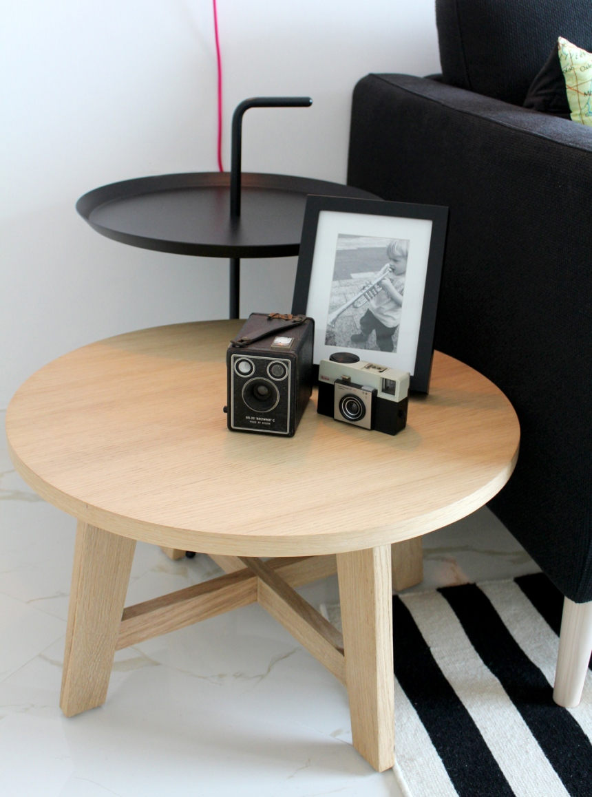 Oak side tables DLM table